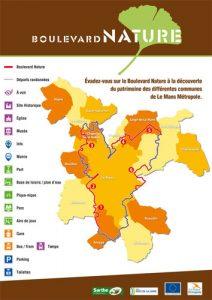 Plan du Boulevard Nature: Carte générale avec légendes
