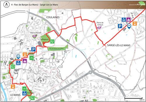 Parcours du Boulevard Nature : Parc de Banjan (Le Mans) - Sargé-Lès Le Mans