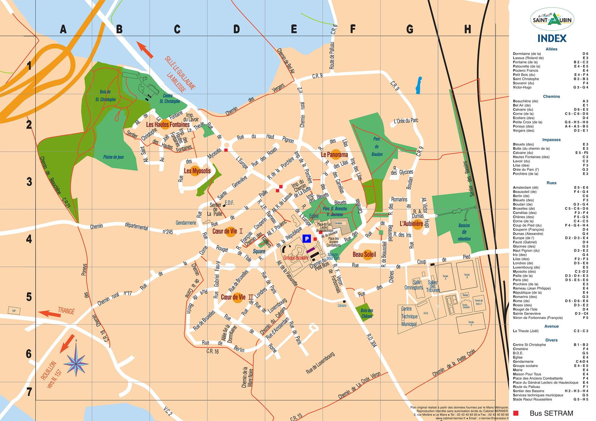 Carte de La Chapelle Saint Aubin